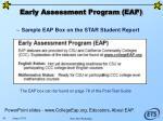 early assessment program eap80