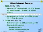 other internet reports