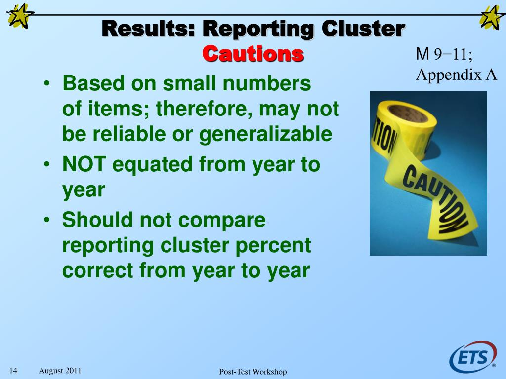 Results: Reporting Cluster