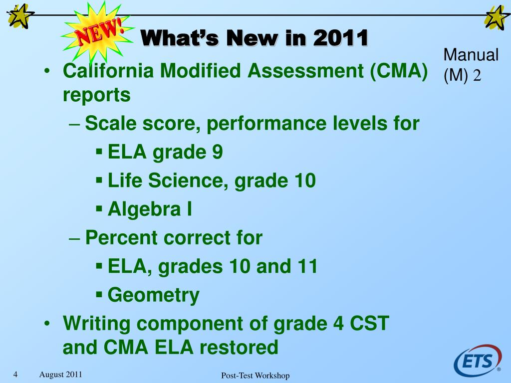 California Modified Assessment (CMA) reports