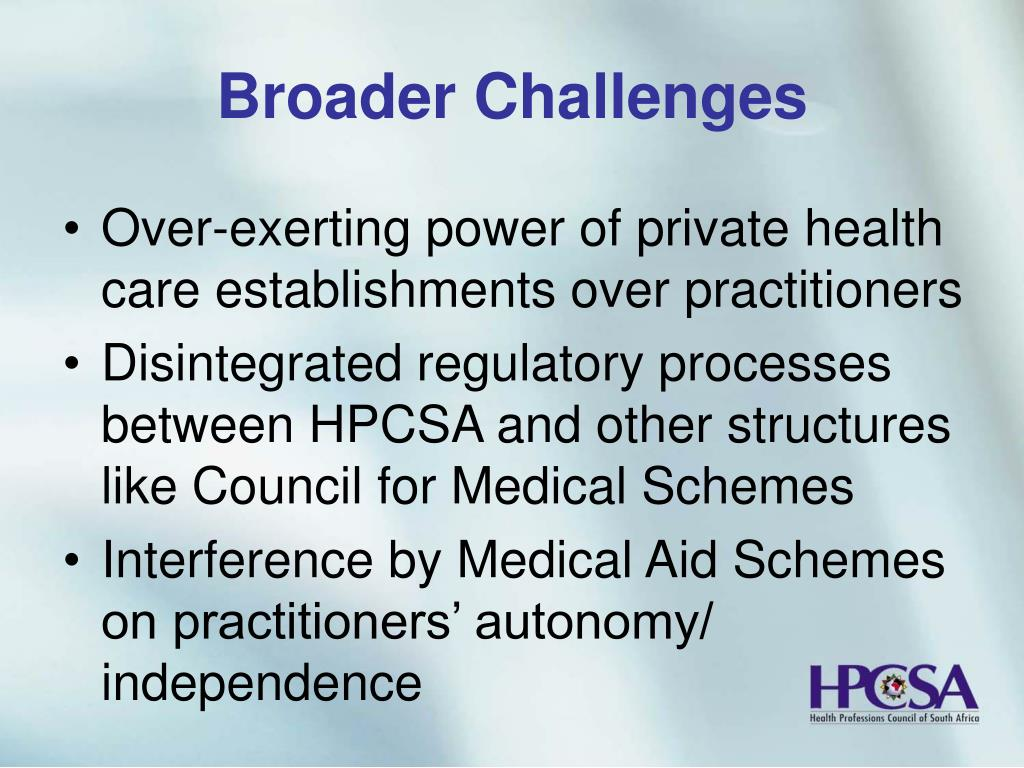 Broader Challenges
