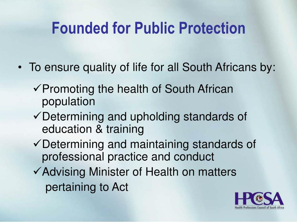 Founded for Public Protection