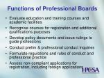 functions of professional boards7