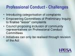 professional conduct challenges23