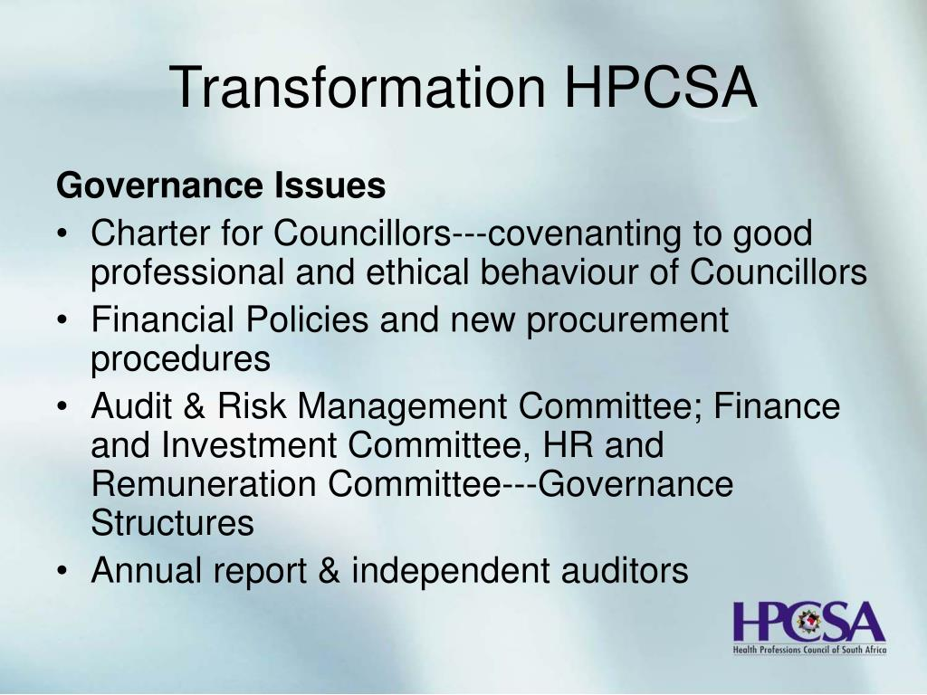 Transformation HPCSA