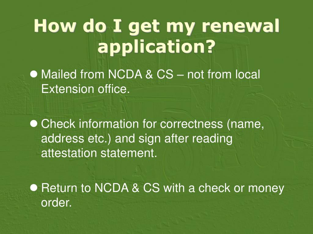 How do I get my renewal application?