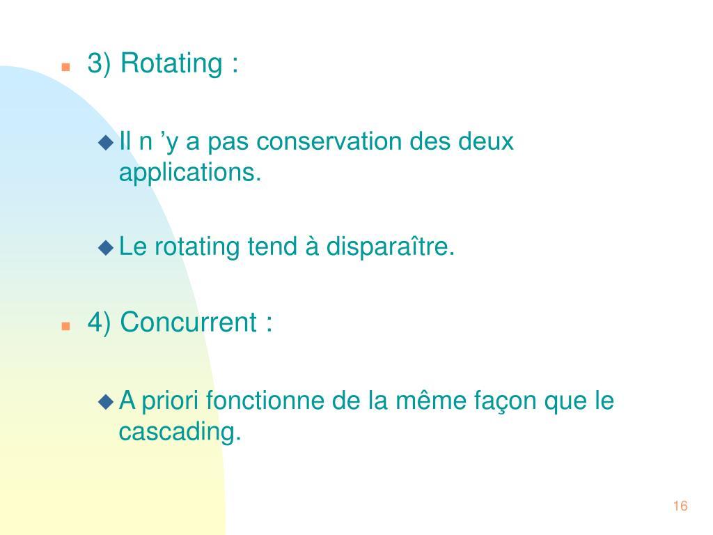 3) Rotating :