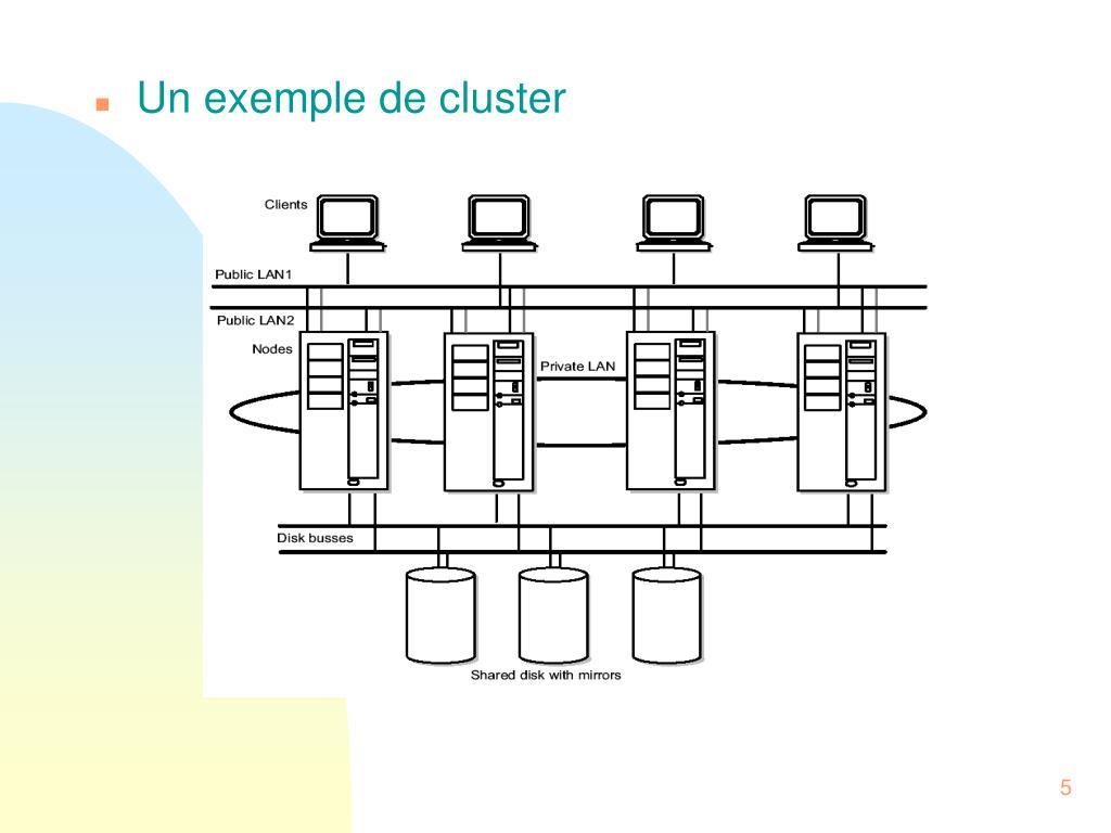 Un exemple de cluster