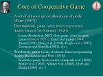 core of cooperative game