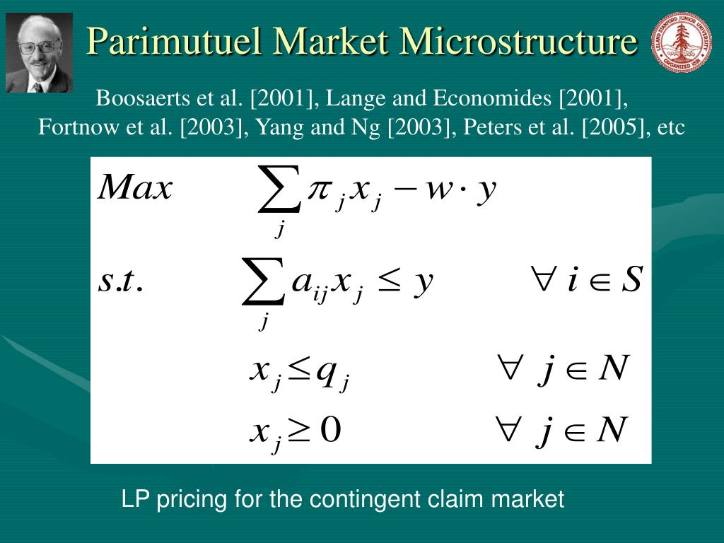 LP pricing for the contingent claim market