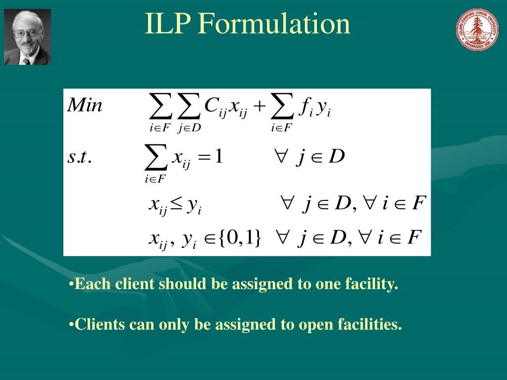 ILP Formulation