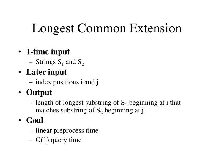 Longest Common Extension