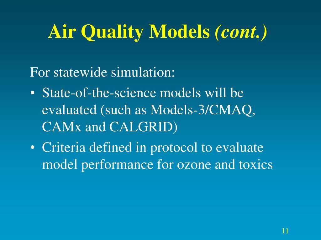 Air Quality Models