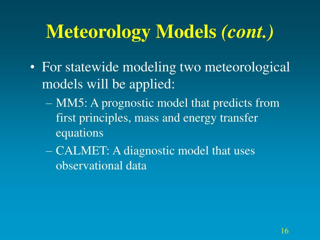 Meteorology Models