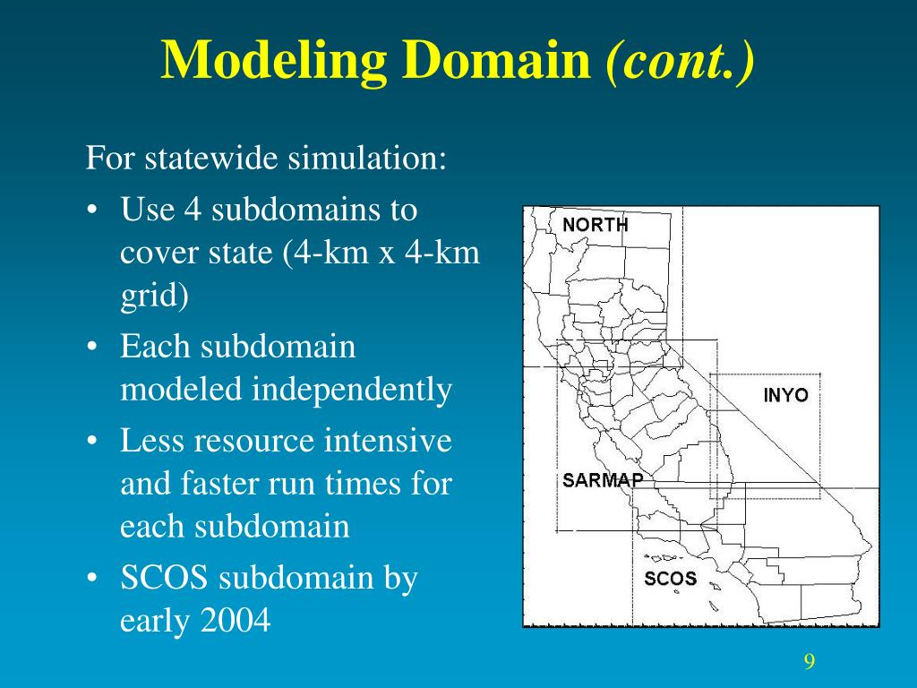 For statewide simulation: