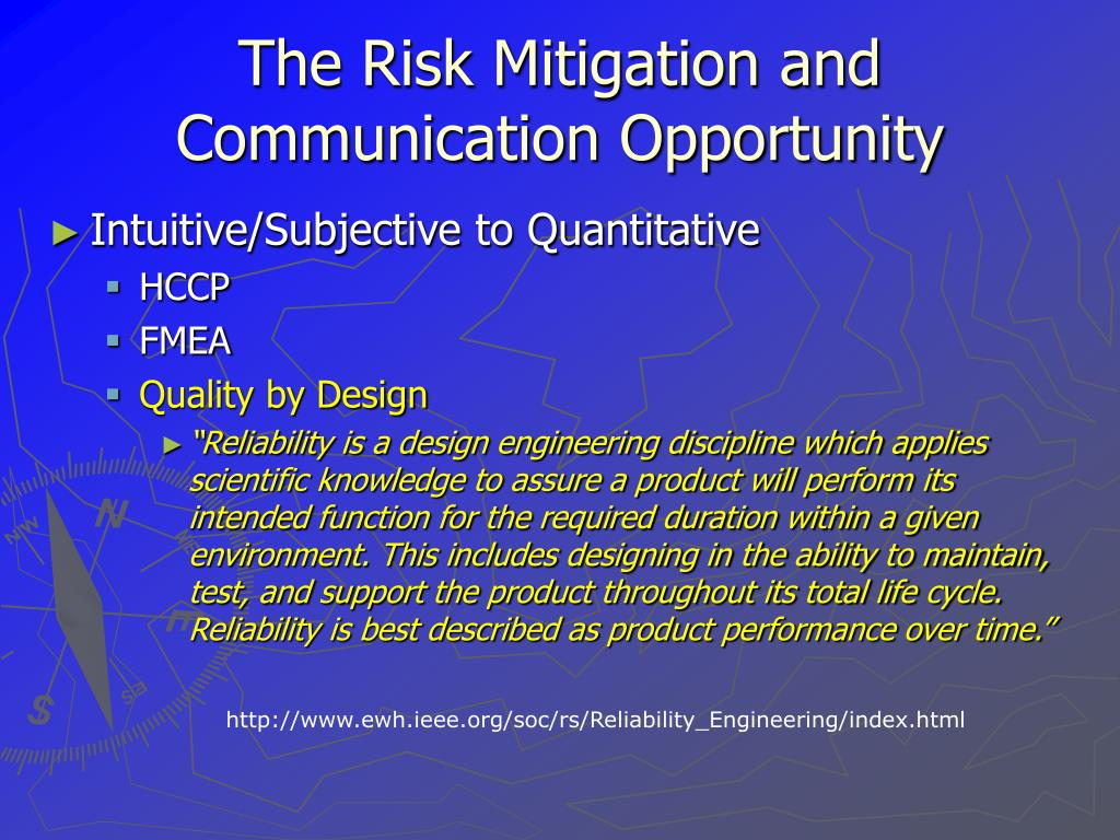 The Risk Mitigation and Communication Opportunity
