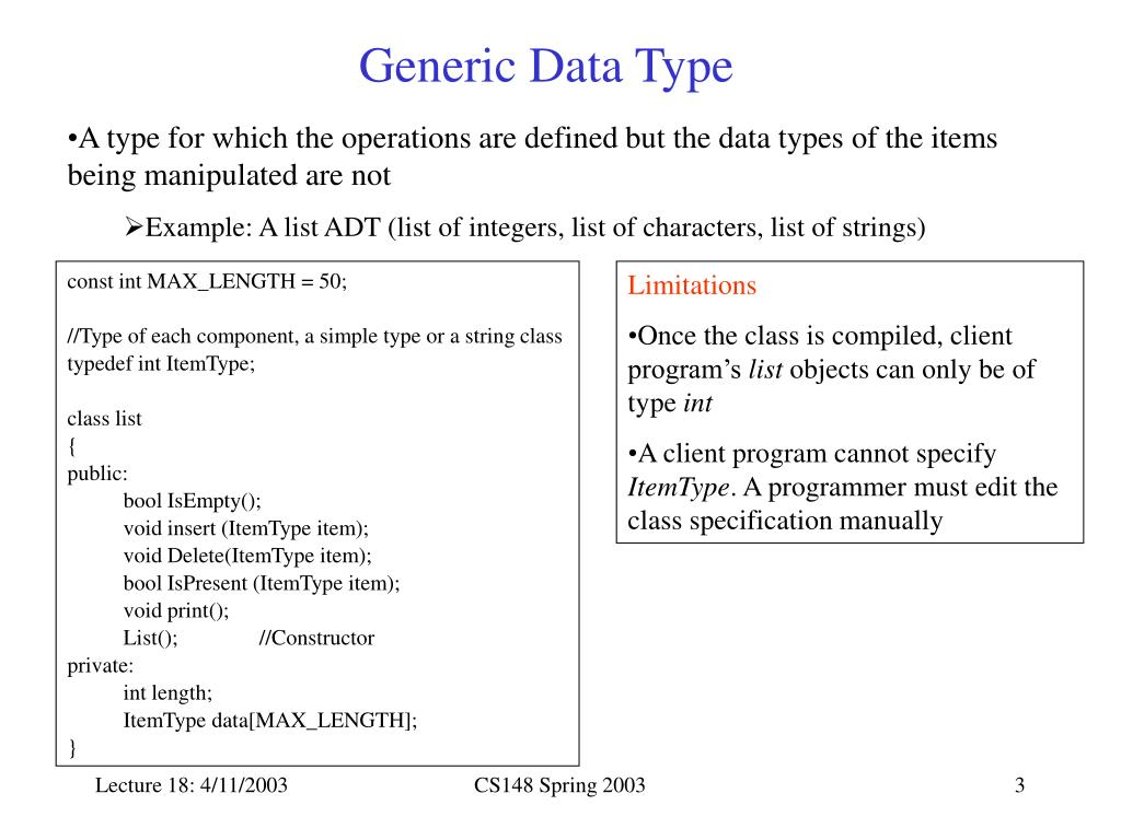 Generic Data Type
