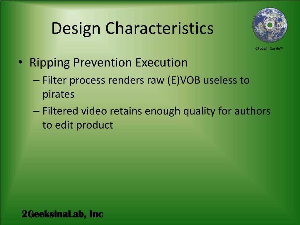 Design Characteristics