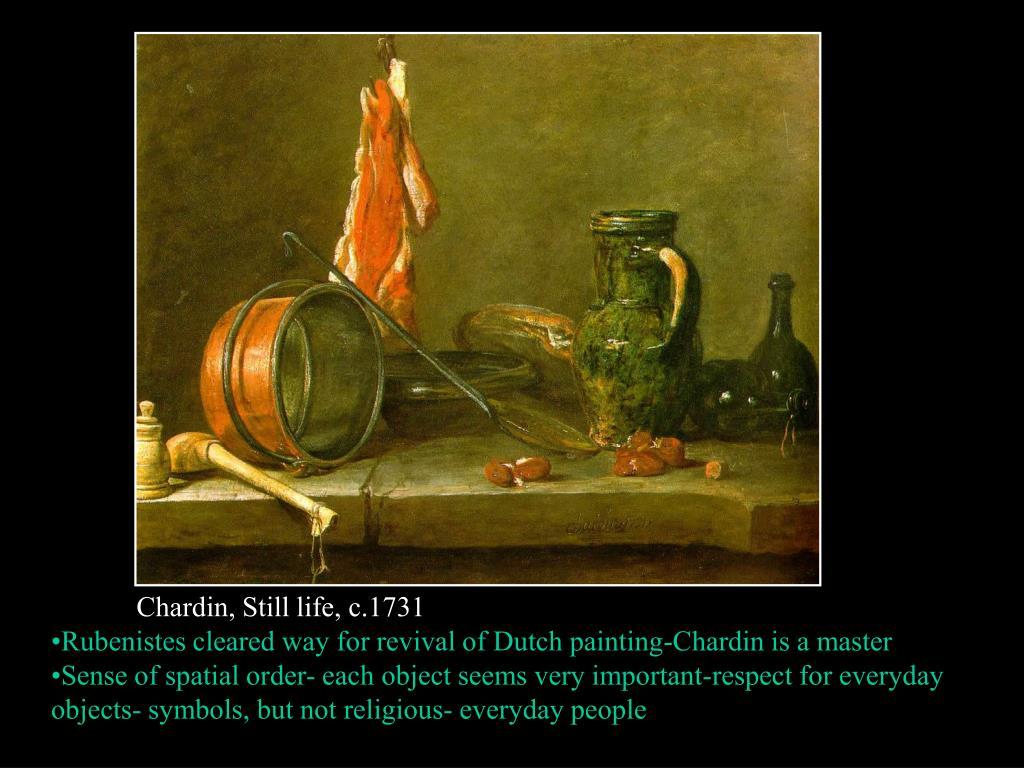 Chardin, Still life, c.1731