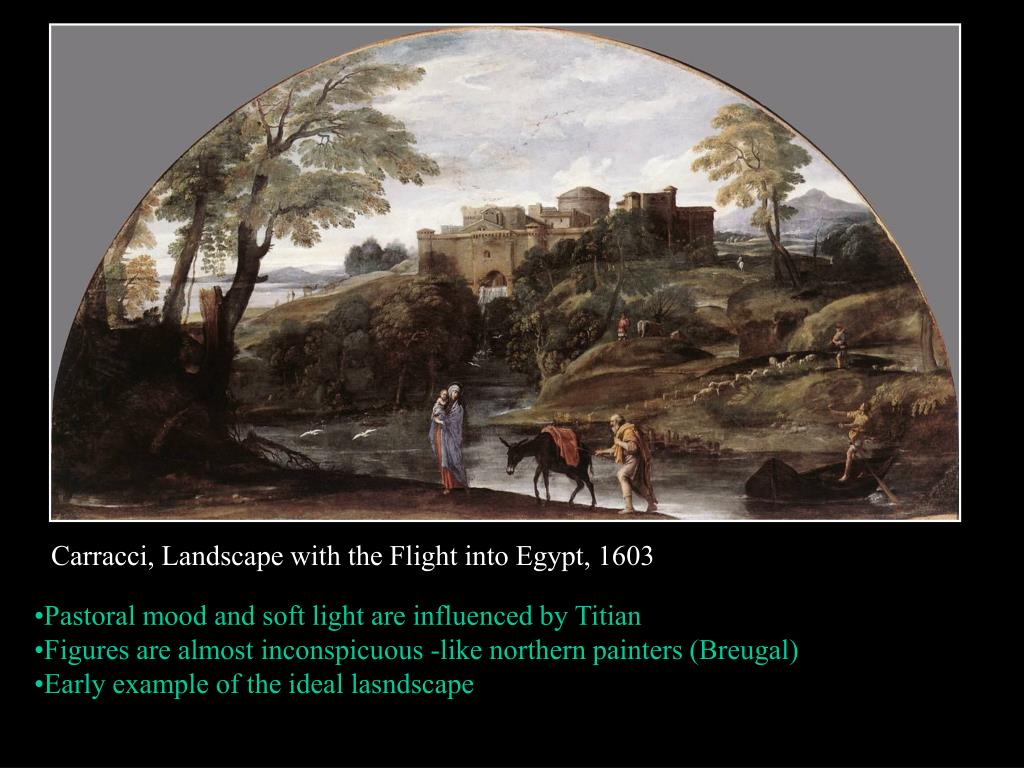 Carracci, Landscape with the Flight into Egypt, 1603