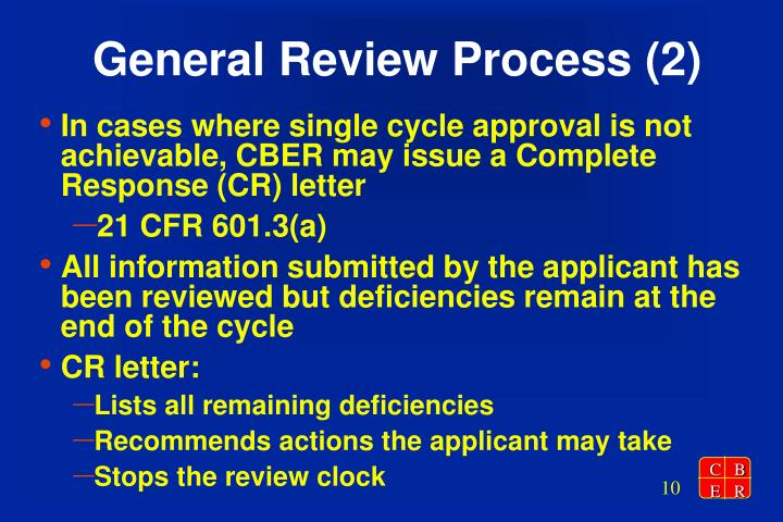 General Review Process (2)