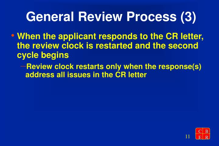 General Review Process (3)