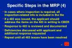 specific steps in the mrp 4