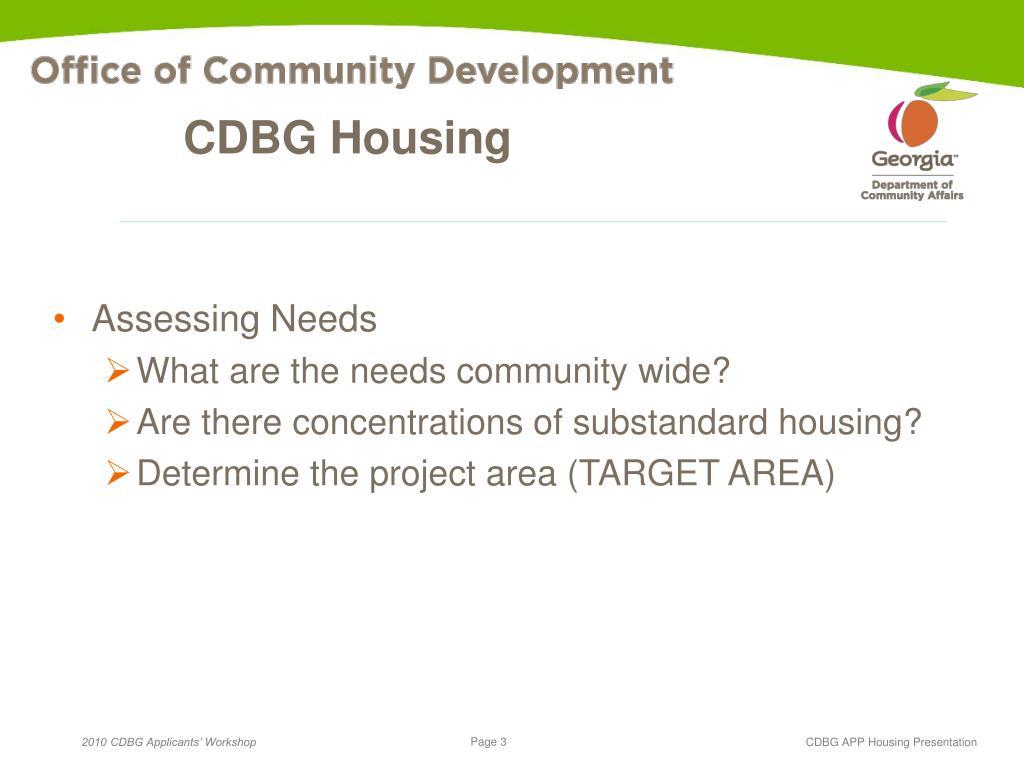 CDBG Housing