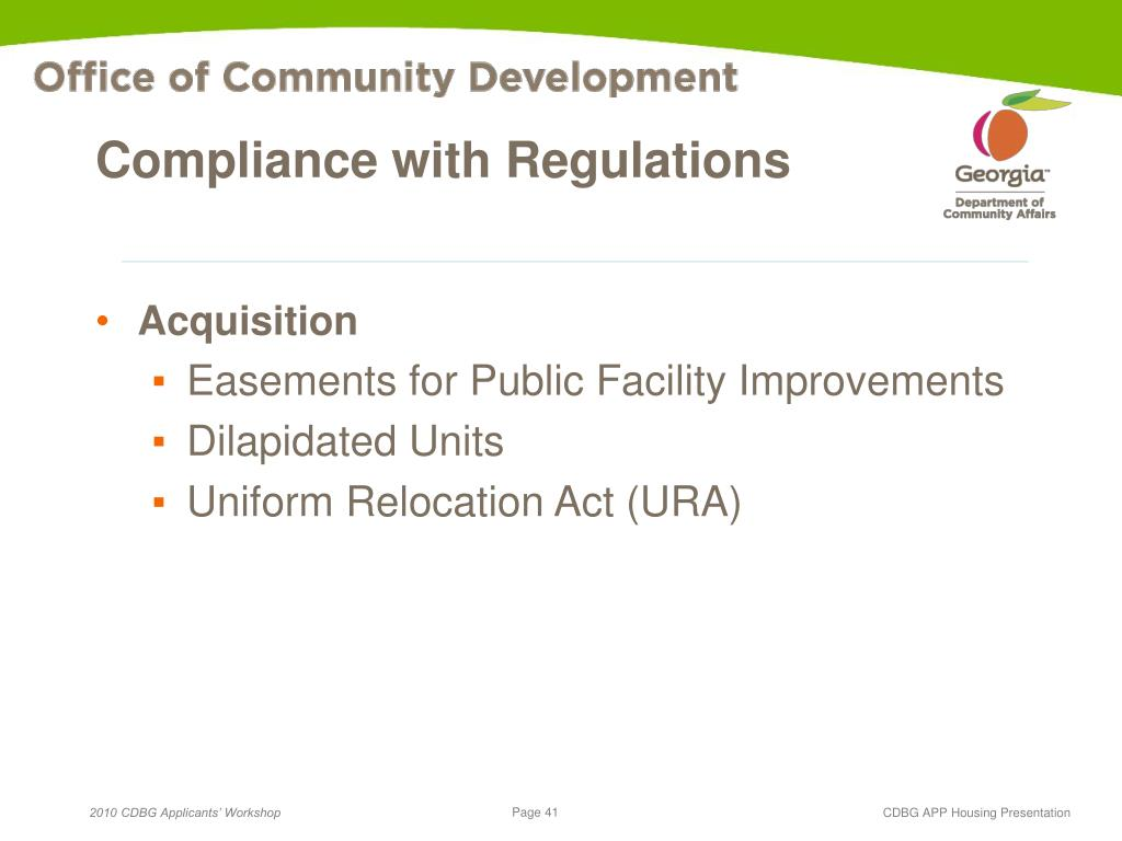 Compliance with Regulations