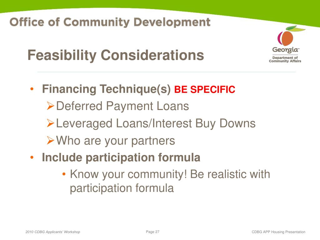 Feasibility Considerations