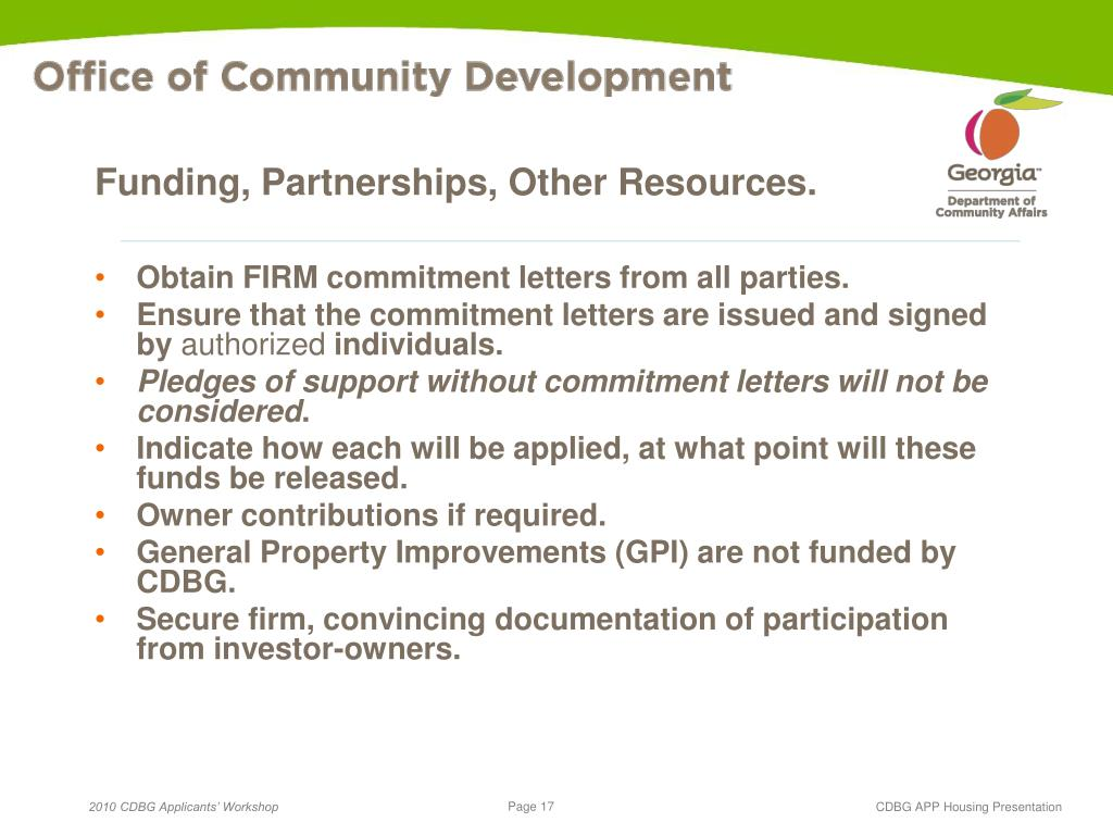 Funding, Partnerships, Other Resources.