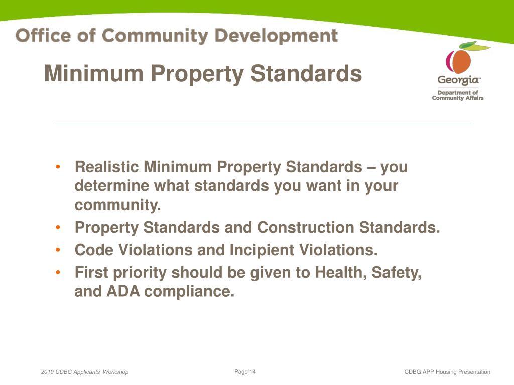 Minimum Property Standards