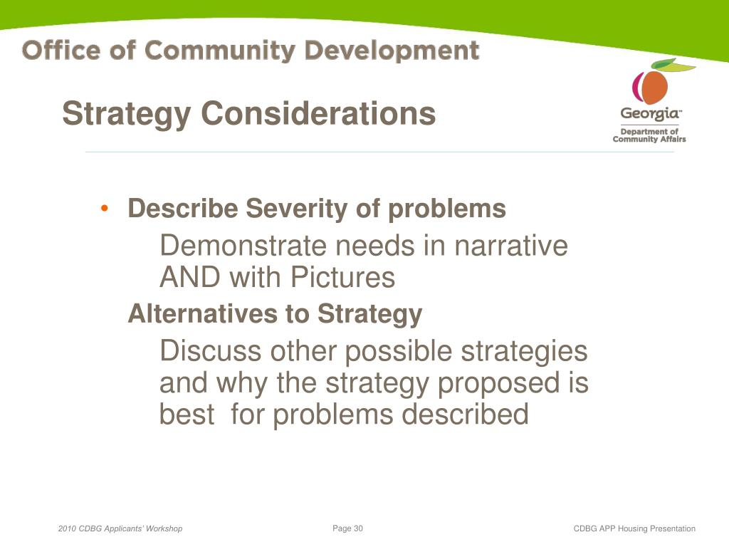 Strategy Considerations
