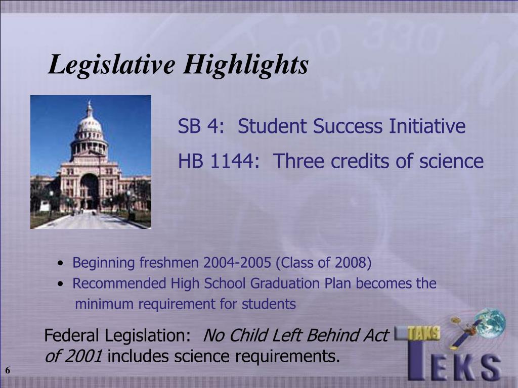 SB 4:  Student Success Initiative