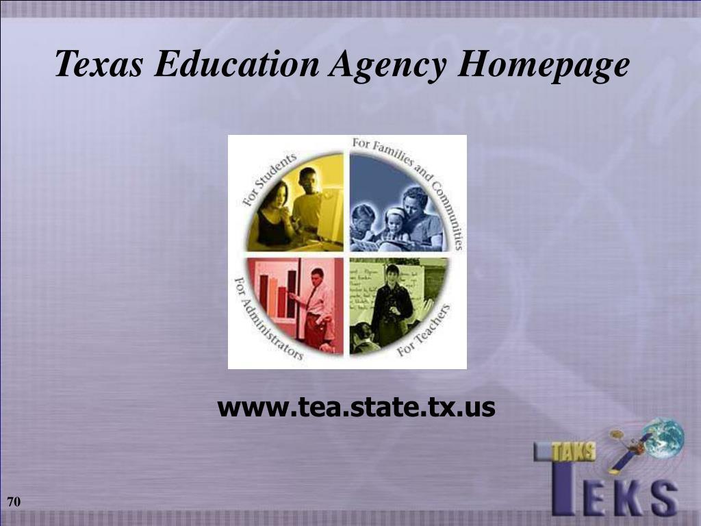Texas Education Agency Homepage