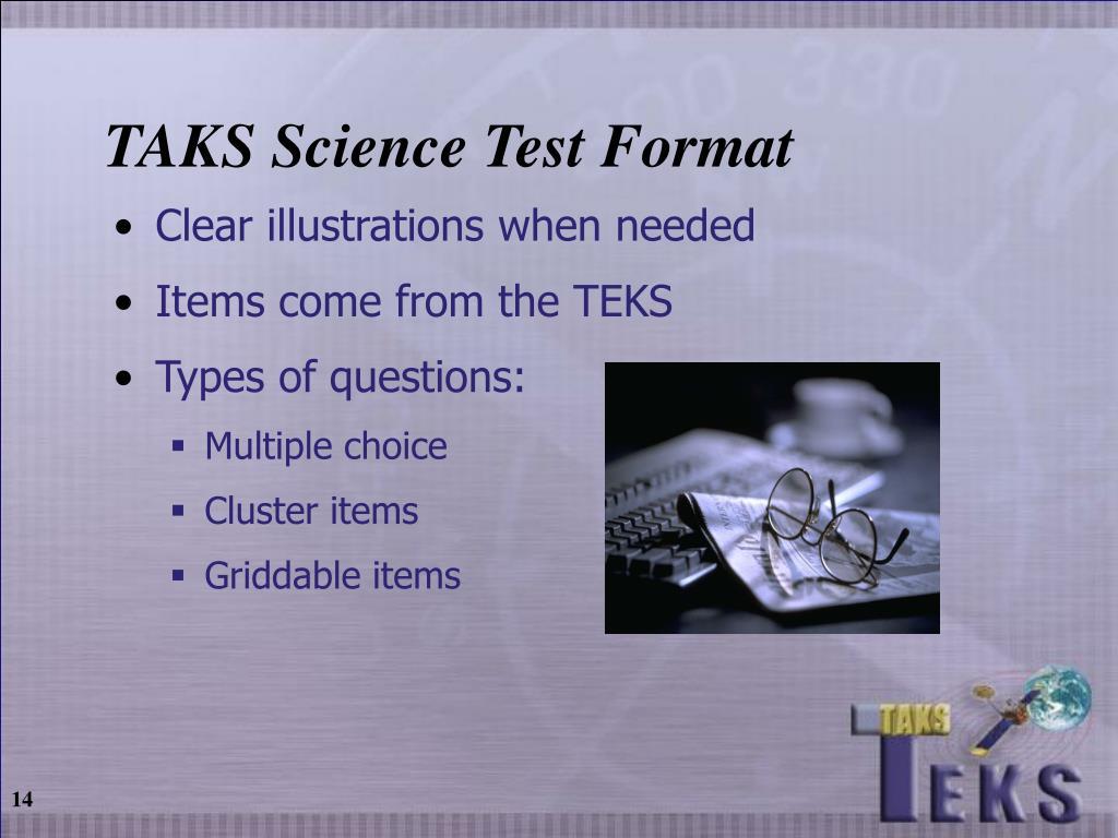 TAKS Science Test Format