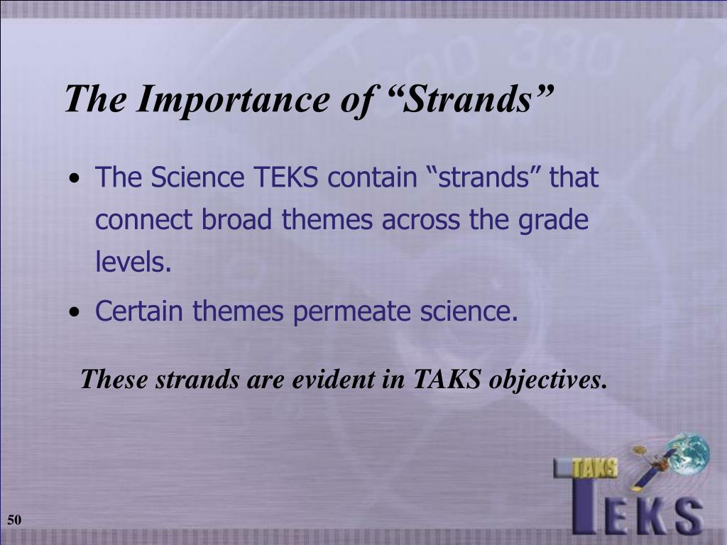 "The Importance of ""Strands"""