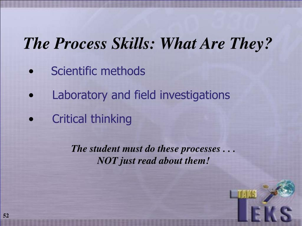The Process Skills: What Are They?