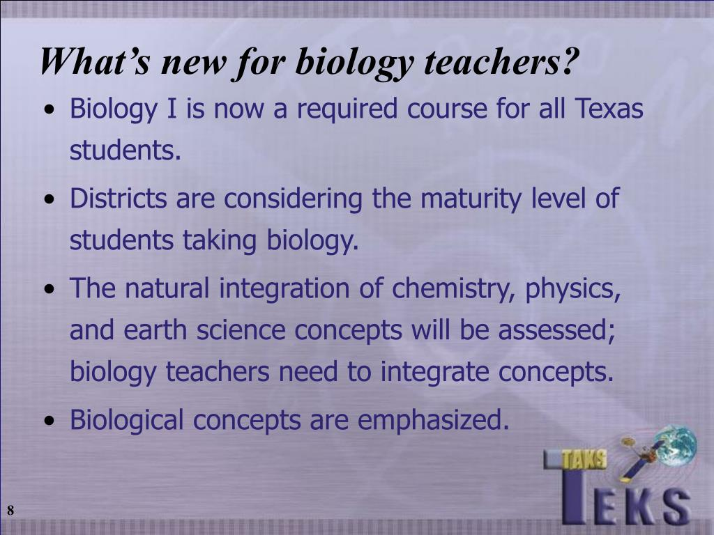 What's new for biology teachers?