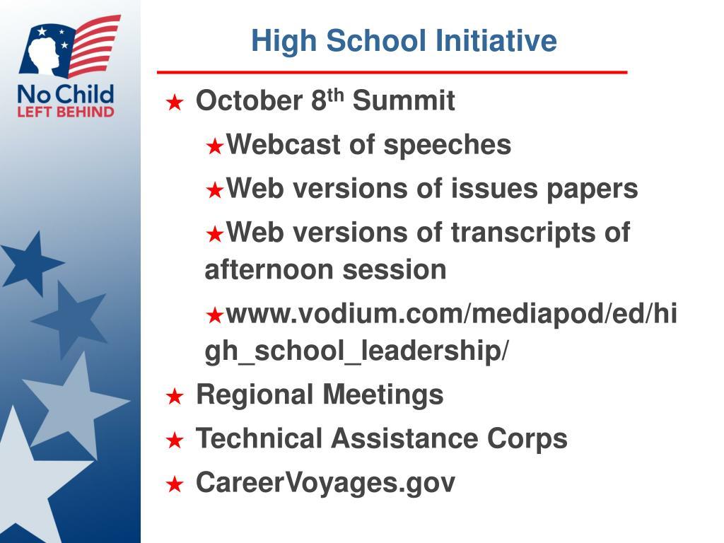 High School Initiative