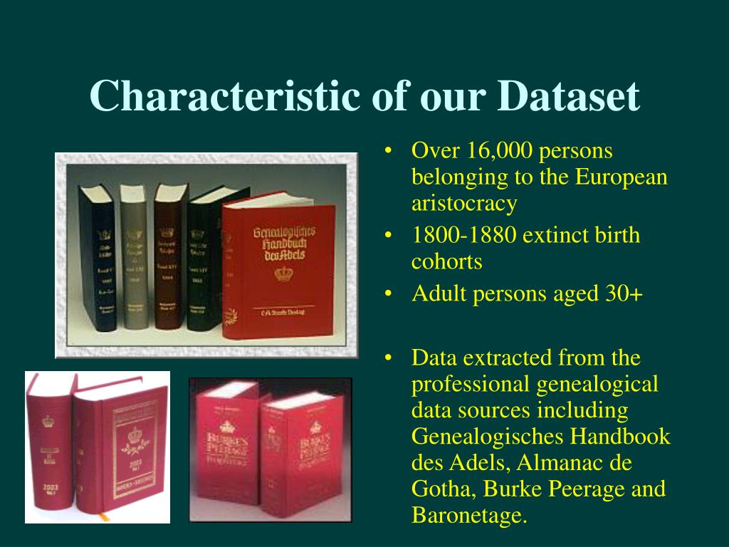 Characteristic of our Dataset