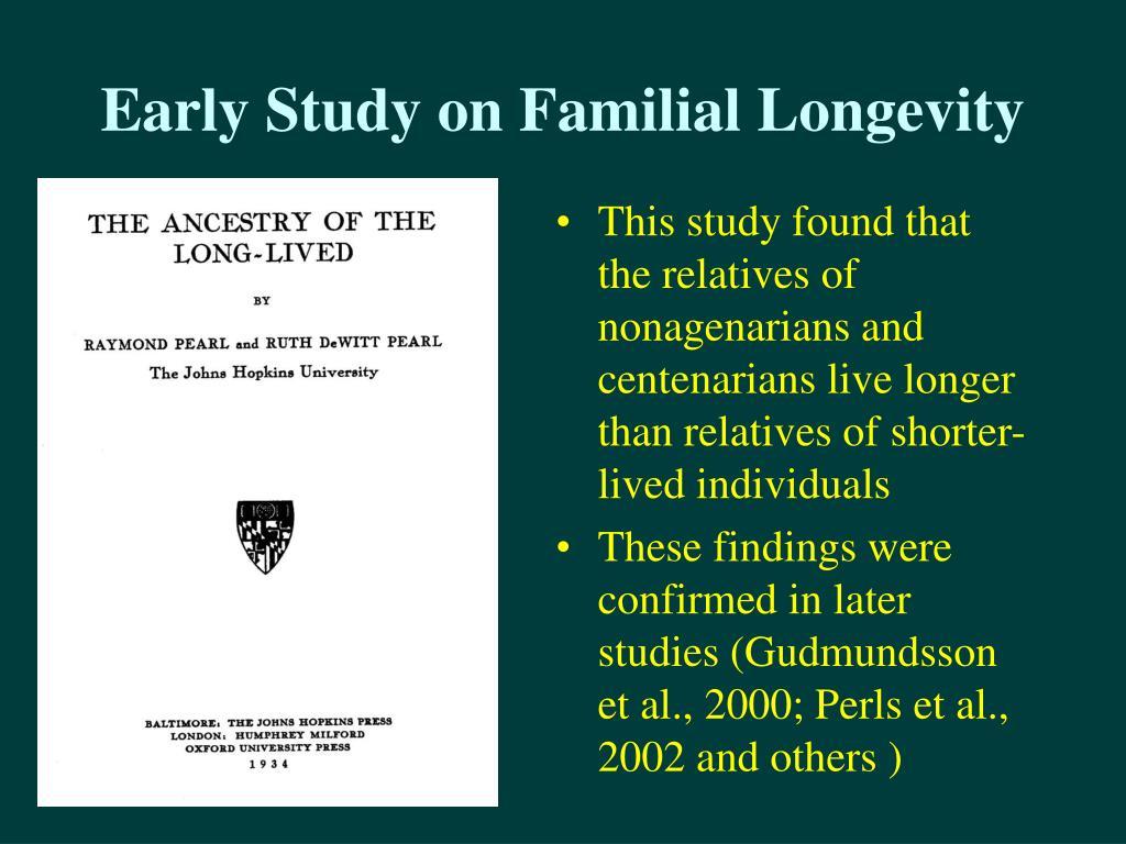 Early Study on Familial Longevity
