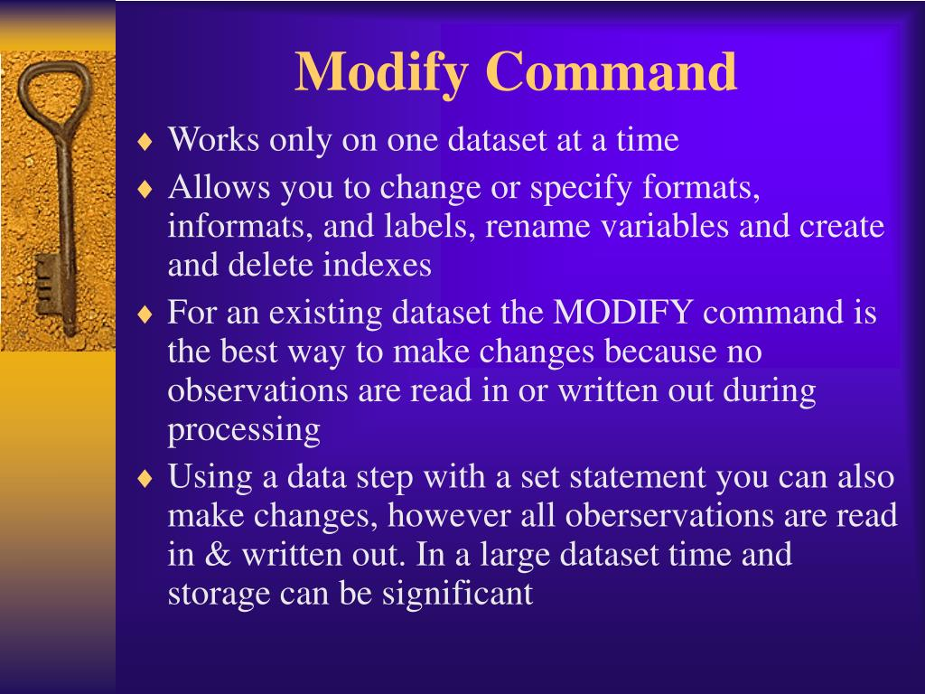 Modify Command