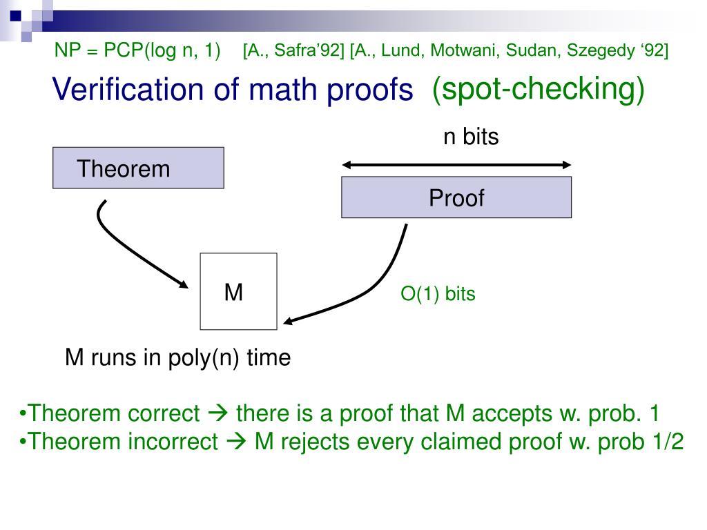 NP = PCP(log n, 1)