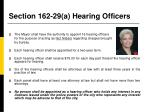 section 162 29 a hearing officers