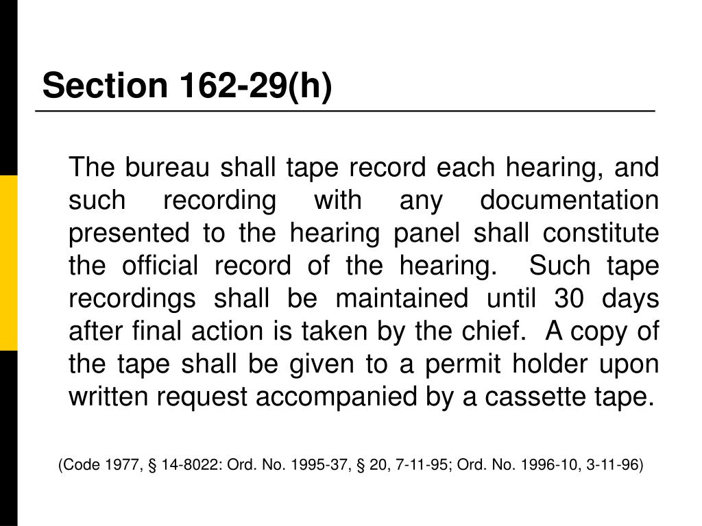Section 162-29(h)