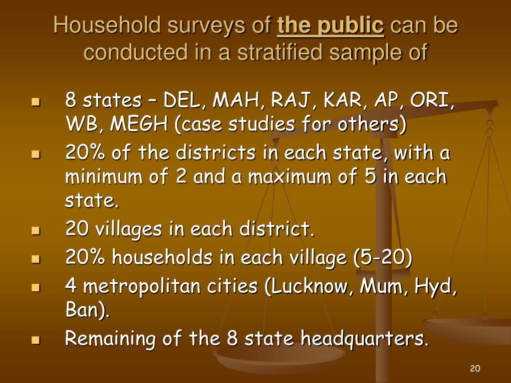 Household surveys of