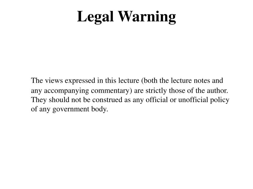 Legal Warning