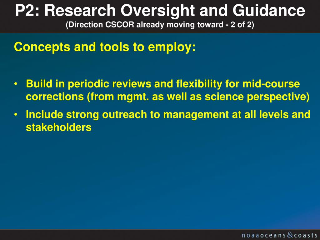 P2: Research Oversight and Guidance