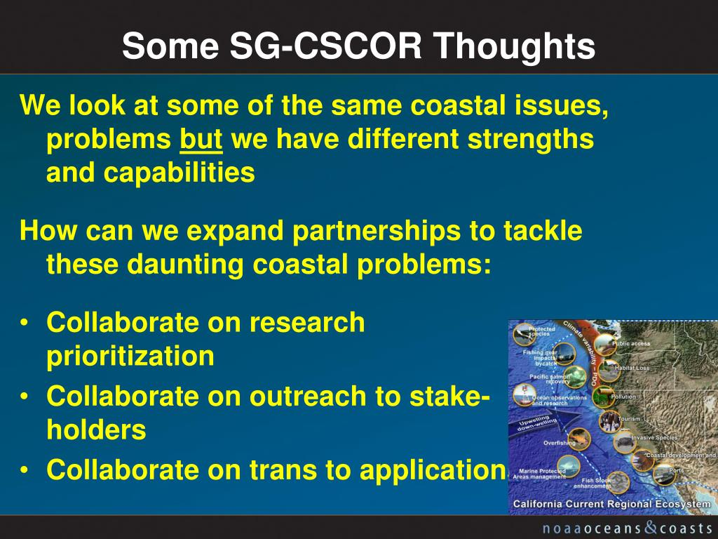 Some SG-CSCOR Thoughts